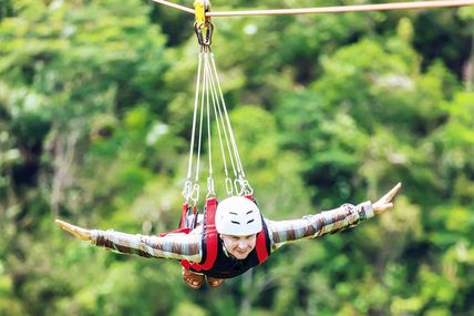 Flying Fox Ride in Rishikesh, Uttarakhand