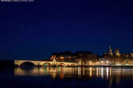 Pont Saint-Bénezet en Avignon by night (Vaucluse, France)
