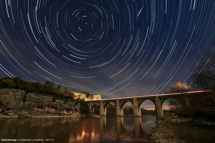 Pont Saint-Nicolas by night (Sainte-Anastasie, Gard)