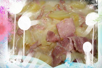 Pommes de terre / jambon cru et cheddar