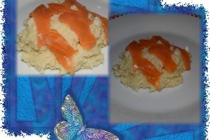 Risotto poireau et saumon fumé