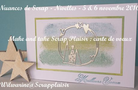 Make & Take au salon Nuances de Scrap