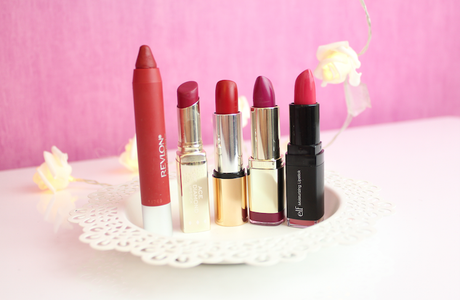 """Top 5 : Rouges à lèvres pour l'automne (version """"cheap"""") ♡"""