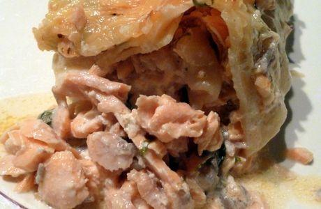 Lasagnes au saumon et à l'oseille