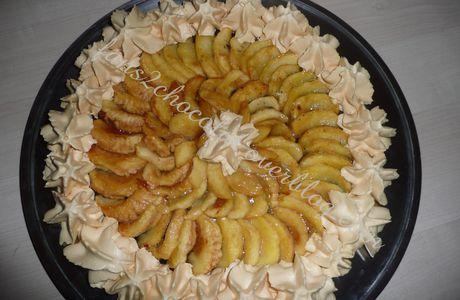 Croustillant chocolat speculoos façon tarte aux pommes et chantilly caramel au beurre salé