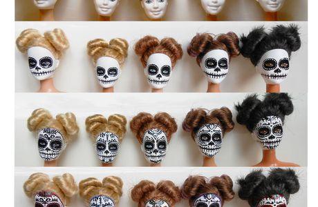 Barbie mexican skull étape par étape