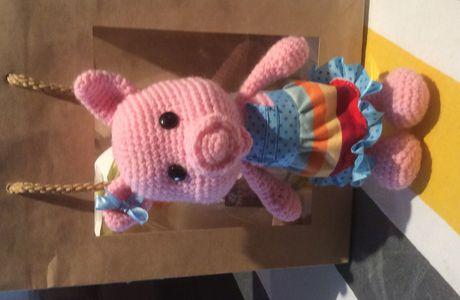 """Cadeau """" petit cochon"""" au crochet"""