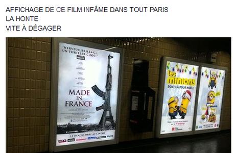 Made in France : une sortie repoussée et l'affiche du film retirée dans l'urgence à Paris