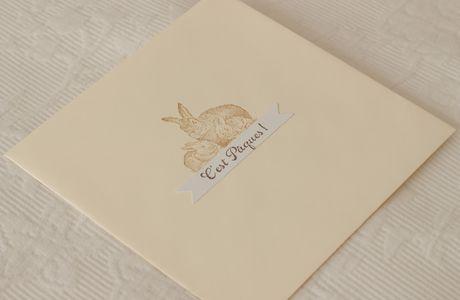 "Card in a box ""Joyeuses Pâques"""