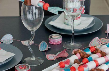 ma deco de table St Valentin  DIY
