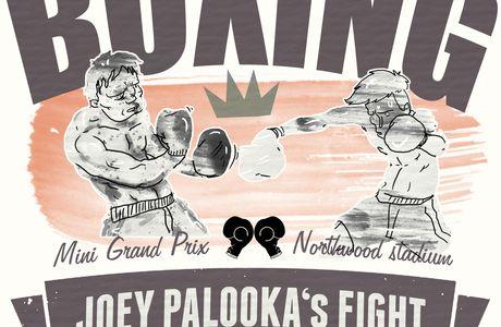 Joey Palooka (affiche imaginaire avec une belle faute d'orthographe)