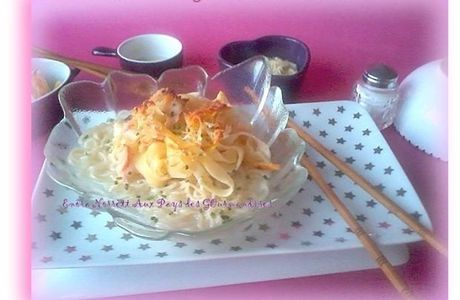Nouilles & Tagliatelles au Saumon gratiner