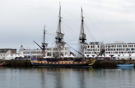 L'Hermione a quitté Brest le 17 août 2015