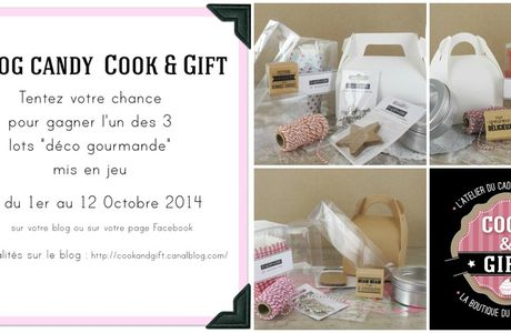 Blog Candy chez Cook and Gift