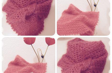 Le foulard caresse, une douceur à crocheter.