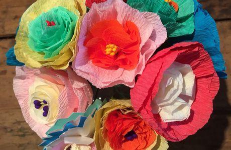D.I.Y. Fleurs en papier.