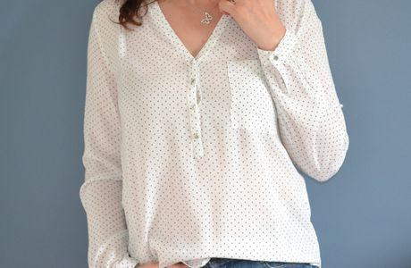 ... les jolies blouses de printemps: version 1: étoilée