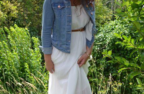 ... la longue robe blanche: on (re)joue à la mariée? (presque)