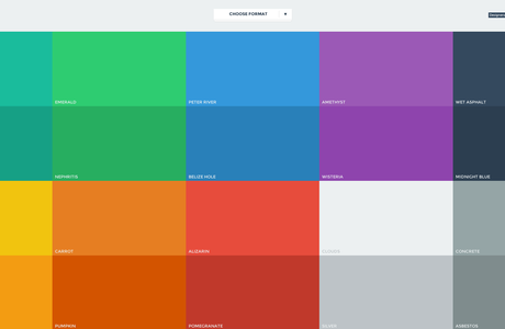 Couleurs Flat Design
