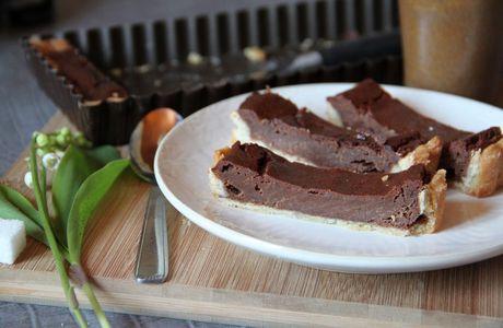 Tarte au chocolat vanille