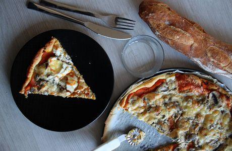 Tarte feuilletée au potimarron et champignons