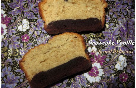 Cake vanille-Layer brownie (Browcake vanille)