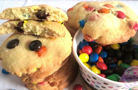 Mes cookies multicolore aux M&M'S
