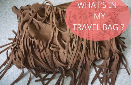 What's in my travel bag ? Les choses que j'ai dans mon sac de voyage