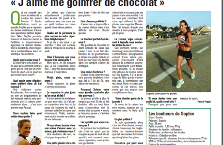 Article de la Marne, paru le 11/02/2015