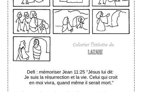 Primaire 7 - leçon 28 - Jésus ramène Lazare à la vie.