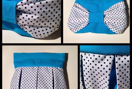Pochette rétro bleue