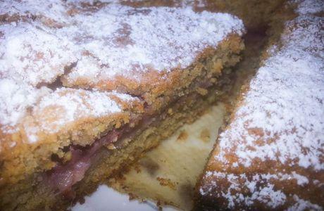 Gâteau à la fraise et aux amandes