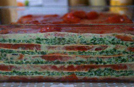 Lasagne épinard/ricotta/tomate