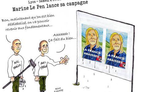 Marine Le Pen lance sa campagne