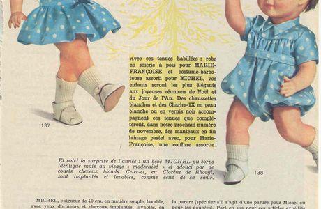 Patron poupon Michel Modes et Travaux octobre 1964