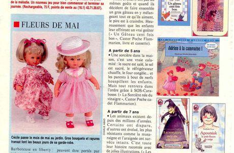 Patron Modes et Travaux poupée Cecile mai 1990