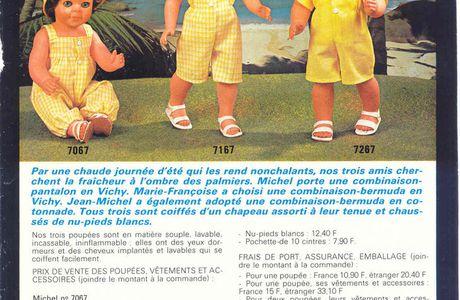 Patron poupées Modes et Travaux juin 1981