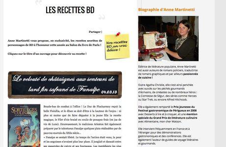 Les recettes BD d'Anne Martinetti