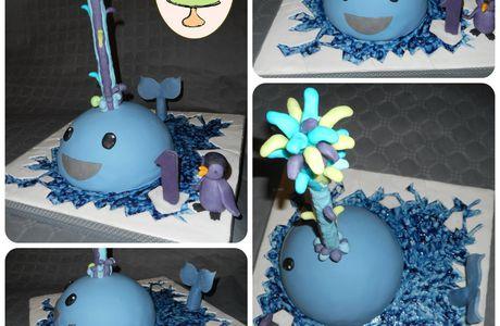"""Gâteau """"Baleine & banquise"""" inspiré d'une création Sharon Wee"""