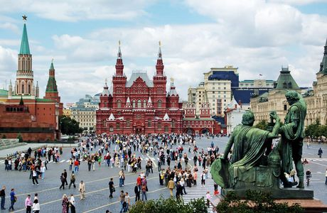 Here is the Place Rouge, it's a giant space in the center of Moscow