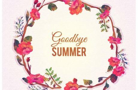 Adieu été...