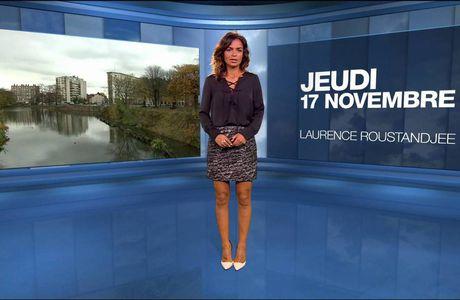 Laurence Roustandjee Météo M6 le 17.11.2016