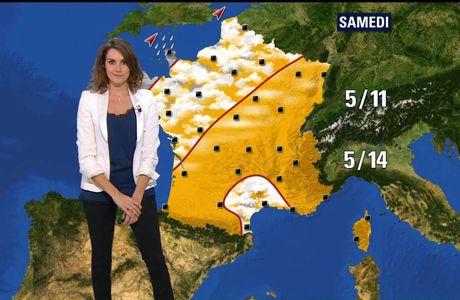 Fanny Agostini Météo BFM TV le 05.12.2016