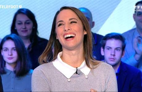 Charlotte Namura Téléfoot TF1 le 15.01.2017