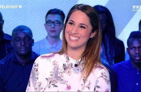 Charlotte Namura Téléfoot TF1 le 29.01.2017