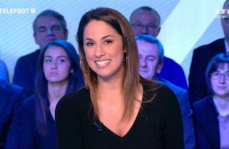 Charlotte Namura Téléfoot TF1 le 19.02.2017