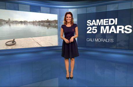 Cali Morales Météo M6 le 25.03.2017