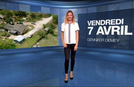 Gennifer Demey Météo M6 le 07.04.2017
