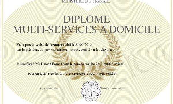 DIPLOME DE MULTI SERVICES