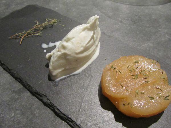 Tatin de poires - sorbet roquefort